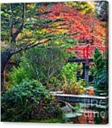 Kubota Gardens In Autumn Canvas Print