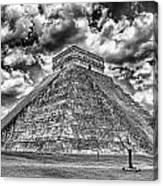 Kukulcan Pyramid V2 Canvas Print