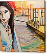 Kuralai Is Waiting. Bangkok Sunset. Canvas Print