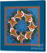 Kurbits Wreath Blue Canvas Print