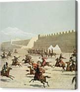 Kurdish And Tatar Warriors At Sadar Canvas Print