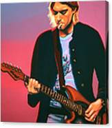 Kurt Cobain In Nirvana Painting Canvas Print