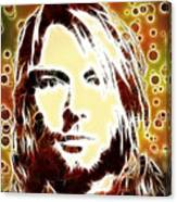 Kurt Cobain Digital Painting Canvas Print