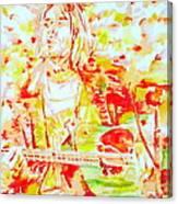 Kurt Cobain Live Concert - Watercolor Portrait Canvas Print