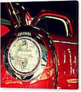 Kustom Red Coupe Canvas Print