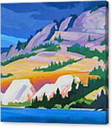 Kvr Railway Bluff Naramata Canvas Print