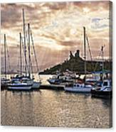 Kyleakin Harbor And Castle Moil Canvas Print