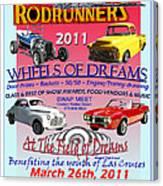 L C Rodrunner Car Show Poster Canvas Print
