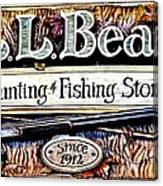 L. L. Bean Hunting And Fishing Store Since 1912 Canvas Print