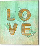 L O V E Between The Lines Canvas Print