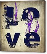 L O V E Crumbling Canvas Print