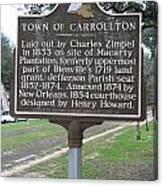 La-007 Town Of Carrollton Canvas Print