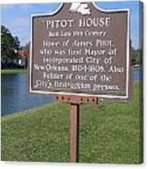 La-010 Pitot House Canvas Print