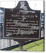 La-013 Le Fort Saint-charles Canvas Print