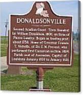 La-033 Donaldsonville Canvas Print