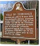 La-036 Ville De Thibodaux Canvas Print