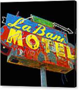 La Bank Motel - Black Canvas Print