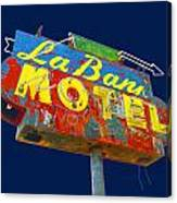 La Bank Motel Canvas Print