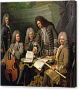 La Barre And Other Musicians, C.1710 Oil On Canvas Canvas Print