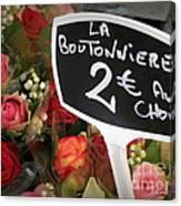 La Boutonniere Canvas Print