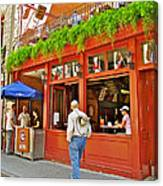 La Cage Aux Sports In Old Montreal-quebec Canvas Print