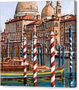 La Chiesa Della Salute Sul Canal Grande Canvas Print