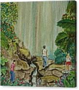La Coco Falls El Yunque Rain Forest Puerto Rico Canvas Print