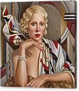 La Femmeen Soiehi  Canvas Print