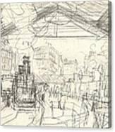 La Gare Saint Lazare Canvas Print