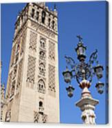 La Giralda Cathedral Tower In Seville Canvas Print