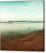 La Jolla California Beach and Pier Canvas Print