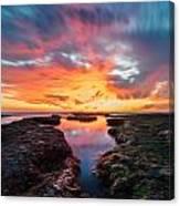 La Jolla California Reflections - Square Canvas Print