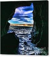 La Jolla Cave By Diana Sainz Canvas Print