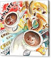 La Laguna Churros Y Chocolate Canvas Print