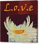 La Marguerite - Love Red Wine  Canvas Print