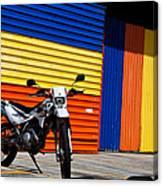 La Motocicleta Canvas Print