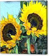 La Peinture Impressionniste De Tournesol Canvas Print