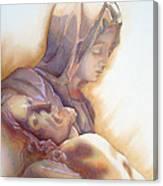 La Pieta By Michelangelo Canvas Print