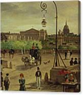 La Place De La Concorde Canvas Print