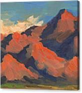 La Quinta Mountains Morning Canvas Print