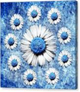 La Ronde Des Marguerites - Blue V05 Canvas Print