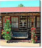 La Rosa Motel Pioneer Town Canvas Print