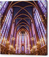 La Sainte-chapelle Upper Chapel, Paris Canvas Print