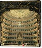 La Scala, Milan, During A Performance Canvas Print