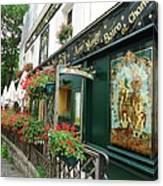 La Terrasse In Montmartre Canvas Print