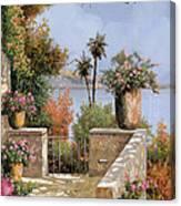La Terrazza Un Vaso Due Palme Canvas Print