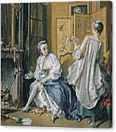 La Toilette Canvas Print