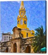 La Torre Del Reloj Canvas Print