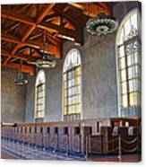 Los Angeles Union Station At Its 75th Anniversary Canvas Print