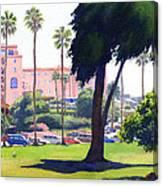 La Valencia Hotel And Cypress Canvas Print